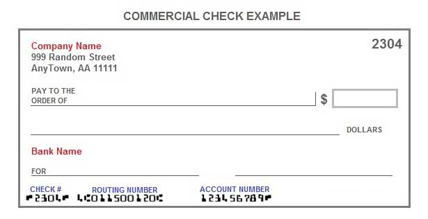 commercial invoice account holders account